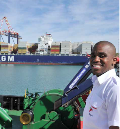 Philisane Ncane moved from the streets of Durban to the Port of Ngqura against all odds.