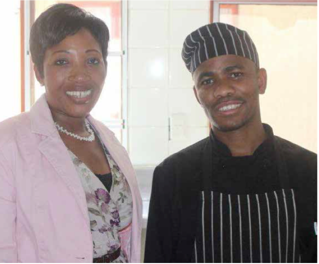 Photo caption: Neiso Mophule and chef Wandile Mabala of the Repa Guesthouse in the Northern Cape ensure their guests are well cared for.