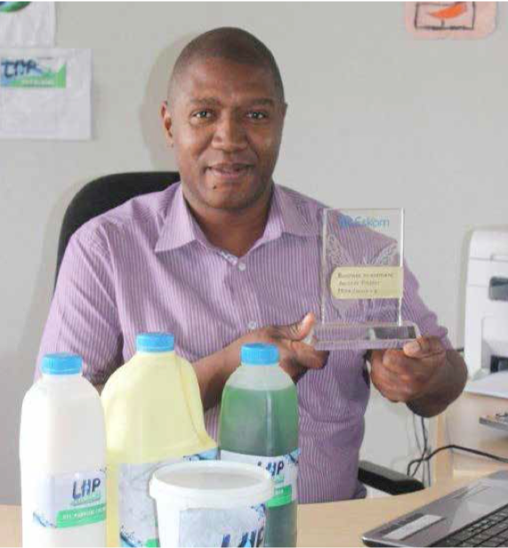Photo caption: Kimberley businessman Thapelo Motsage of Lethabo Hygiene Products aims to make his cleaning products the number one choice for South Africans.