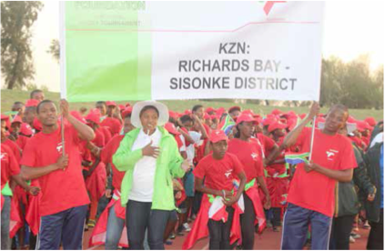 Learners from KwaZulu-Natal at the opening ceremony of the Transnet Rural and Farm School Sport Programme. (Picture: Albert Pule)