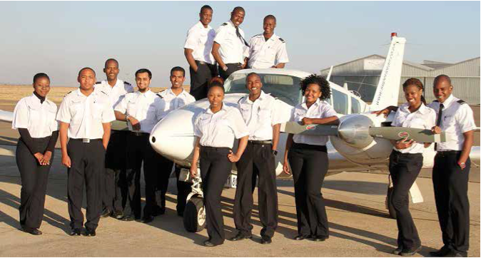 Photo caption: Youngsters from the across the country have the chance to take their dreams to the skies, with the new SAA and SA Express cadet training programme.