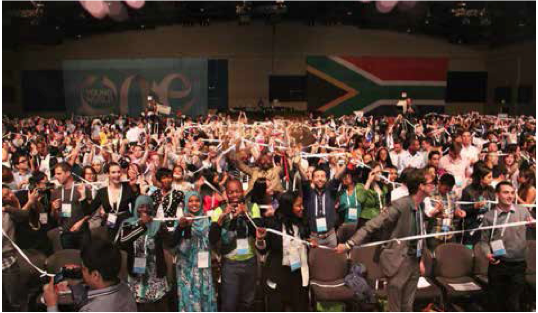 Photo caption: Thousands of young ambassadors from across the globe gathered in Johannesburg last month as South Africa played host to the One Young World Summit.