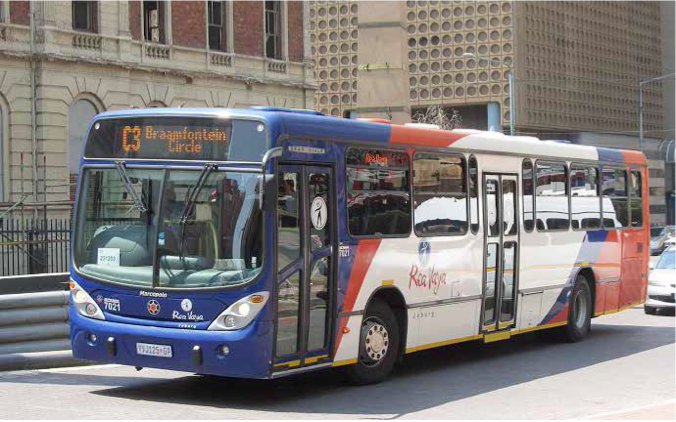 Photo caption: Rea Vaya buses are now being manufactured locally.