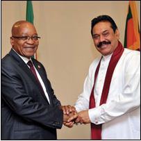 During his recent visit to Sri Lanka, President Jacob Zuma shared some of South Africa's experience in nation building with Sri Lankan President Mahinda Rajapaksa.