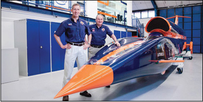 Driver Andy Green (left) and engineer Richard Noble have chosen the Northern Cape for their mission to break the land-speed record in a specially designed car.