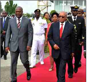 Ghanaian President John Dramani Mahama and President Jacob Zuma discussed strengthening relations between their countries during President Zuma's recent visit Ghana.