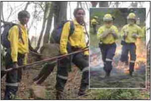 Female fire fighters Smangele Mawelele and Phindile Mgibe patrol the fire-prone forests of Mpumalanga. The two are among the 112 female fire fighters in the province.