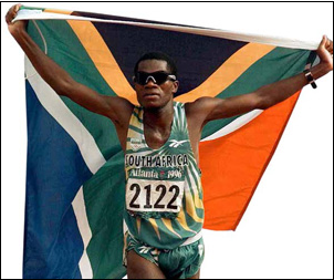 Josia Thugwane became the first black athlete to win an Olympic gold medal for South Africa when he won the marathon event at the 1996 Atlanta Olympic Games.