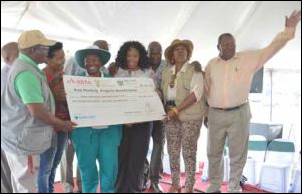 North West farmers celebrate after being chosen as beneficiaries of the R20 million Post Planting Production Inputs Initiative.