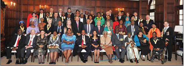 President Jacob Zuma with the recipients of National Orders, who were honoured for their role in building a better South Africa.