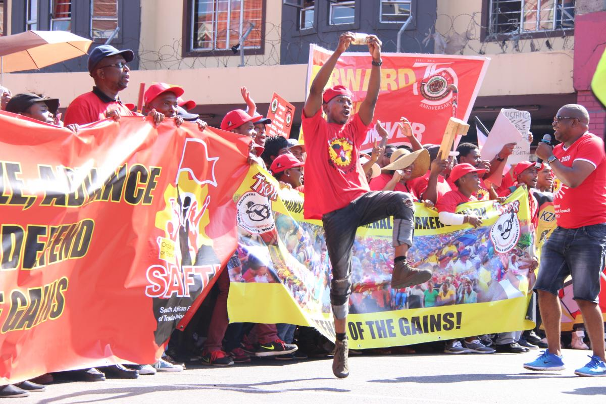 Thousands of workers took part in the SAFTU march in the Durban CBD.