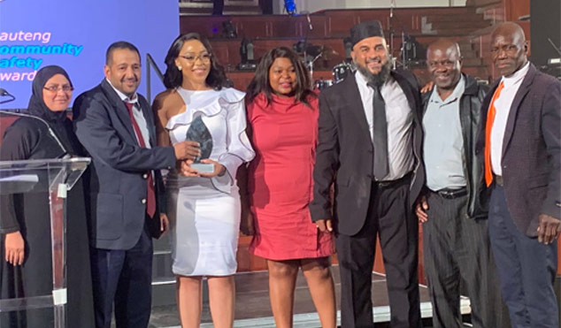 Members of the Lenasia Community Policing Forum led by their chairperson Ebrahim Asvat received the award of the best CPF in Gauteng.
