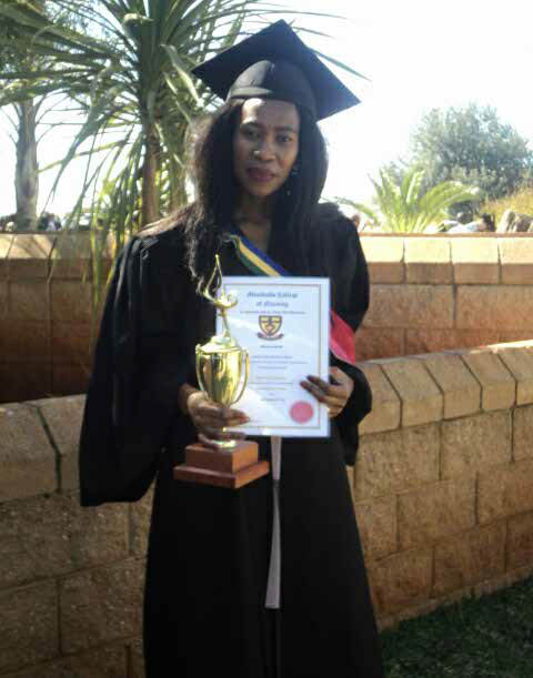 Onica Chiloane a top achiever can't wait to serve her community.