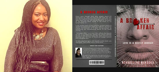Author Nthabeleng Makgota published her first novel.