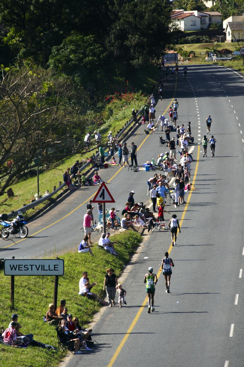 The Comrades Marathon up-run from Durban to Pietermaritzburg last year. This year's edition will see over 20 000 runners tackling the down-run