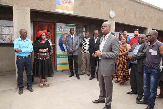 Councillor Greaterman Thwala (centre) has opened up his home to bring health services closer to his community.