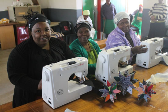 Gogos from the Hillcrest AIDS Centre Trust's Dressmaking School.