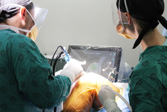 Orthopaedic surgeons Dr Paul Rowe and Dr Yusuf Hassan performed the first two robotic knee replacement surgeries of its kind in the country recently at Victoria and Mitchells Plain District Hospital.