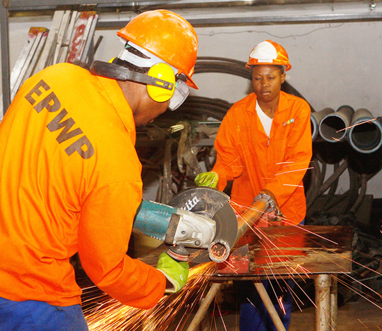 EPWP participants can enter the Programme as unskilled workers and eventually become qualified artisans.
